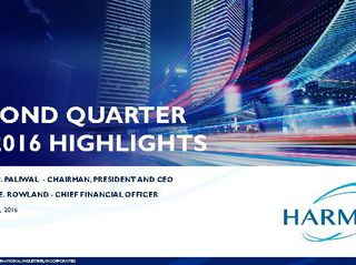 Second Quarter FY 2016 Highlights