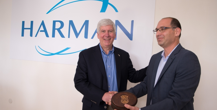 Michigan Governor Rick Snyder Visits HARMAN Israel to Affirm the Strong Cyber Security Relationship between Michigan and Tel Aviv
