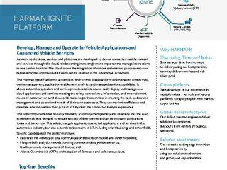 HARMAN - Ignite Platform - DataSheet