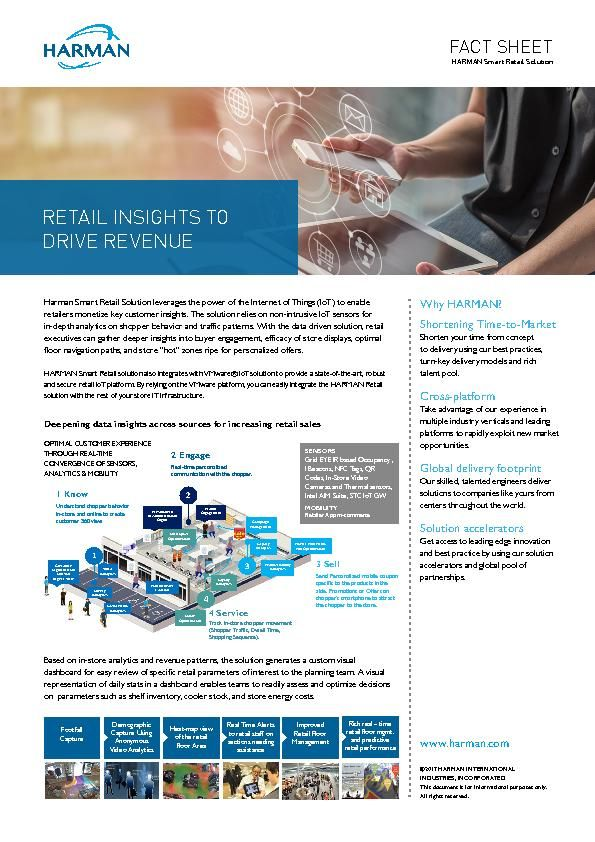 HARMAN - VMware - Retail Analytics - Datasheet