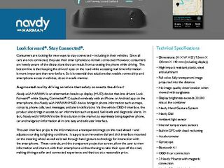 Navdy with HARMAN - Fact Sheet