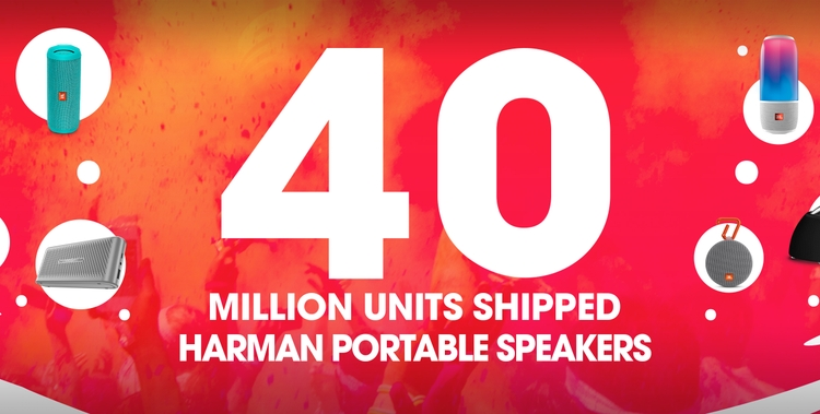 Yes, You Heard it Right. HARMAN Shipped Landmark 40 Million Portable Speakers