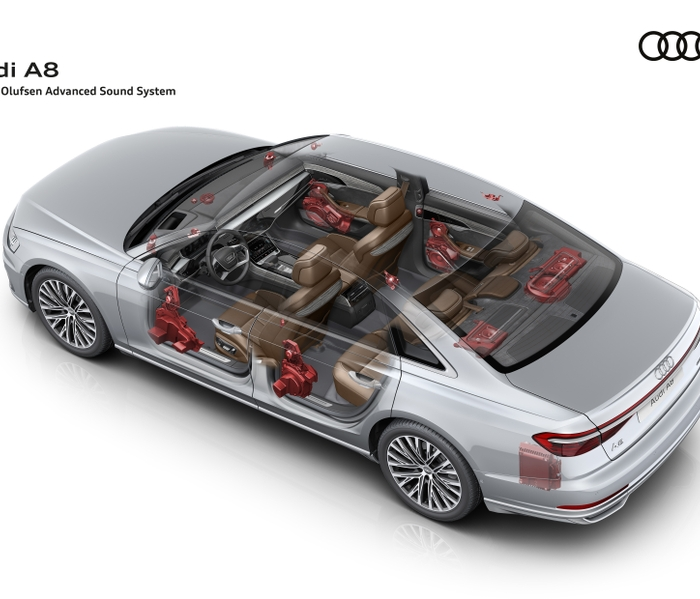 Audi A8 Bang & Olufsen 3D Advanced Sound System drawing A178217_large Source:Audi