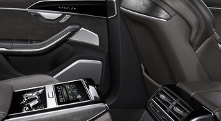 Bang & Olufsen 3D Advanced Sound System speaker grilles rear Source:Audi