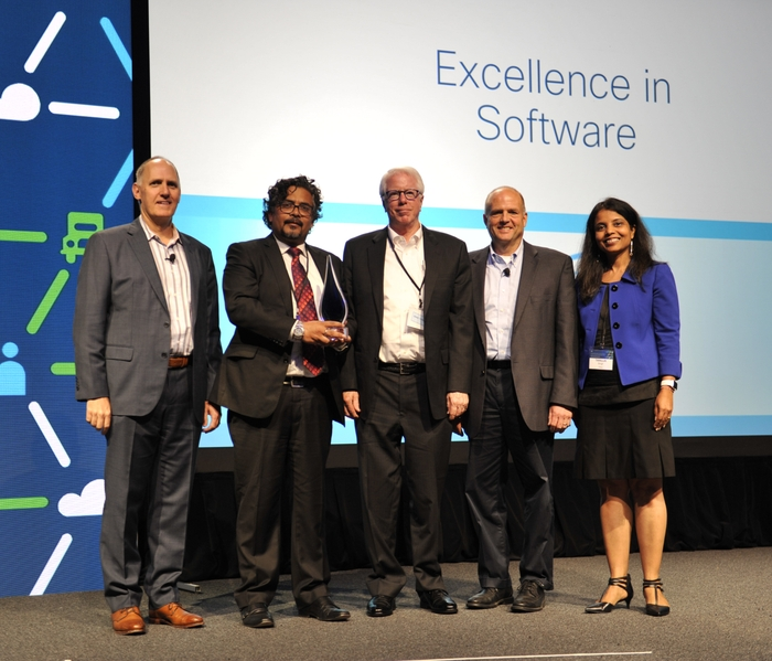 HARMAN's Kumar Abhimanyu and Mike Nottage with colleagues from Cisco at the 26th Annual Cisco Supplier Appreciation Event