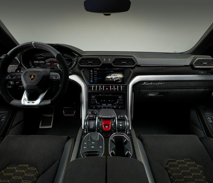 Lamborghini Urus_yellow_interior_central_console