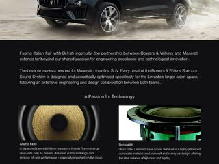 2019-03 Bowers Wilkins One Pager_MY19 Maserati Levante