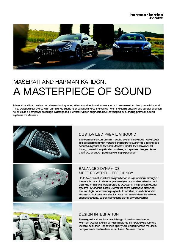 2019-03 Harman Kardon One Pager_MY19 Maserati Range