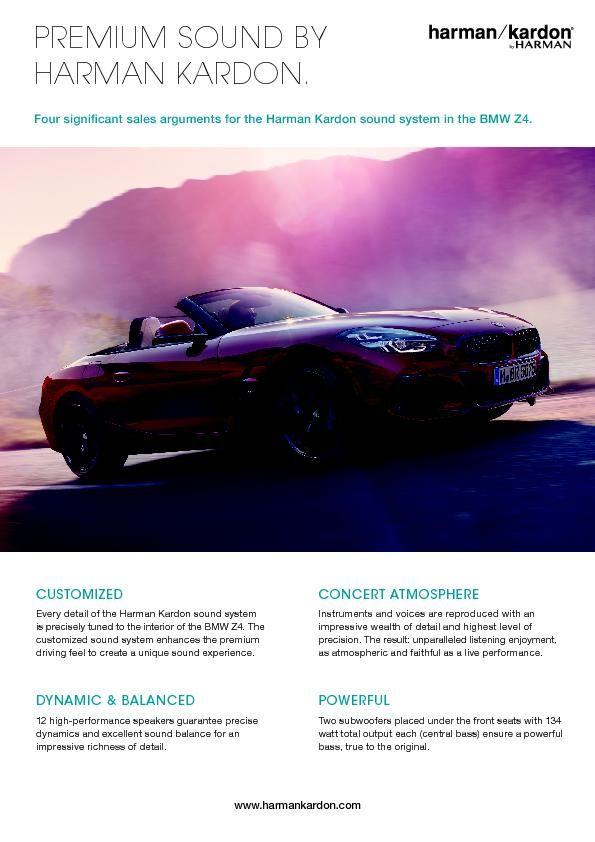 2019-03 BMW Z4_Harman Kardon