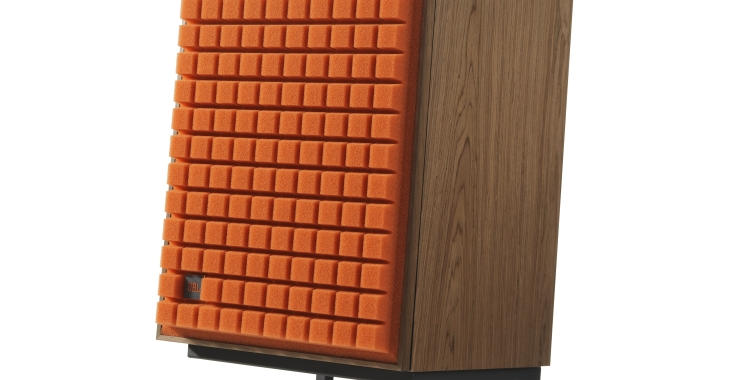 JBL L100 Classic_Orange grill on Stand