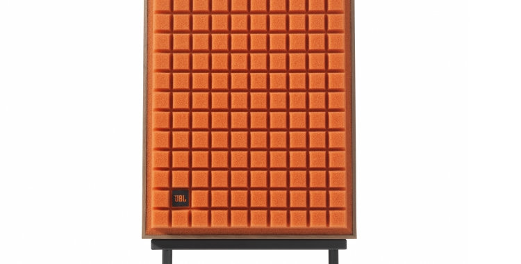 JBL L100 Classic_Orange grill on Stand_front