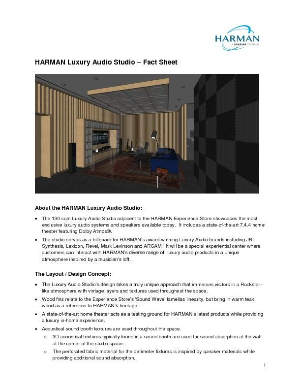 HARMAN Luxury Audio Studio Factsheet_final_201905131110
