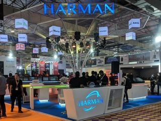 HARMAN Professional solutions booth at Palm Expo - Landscape