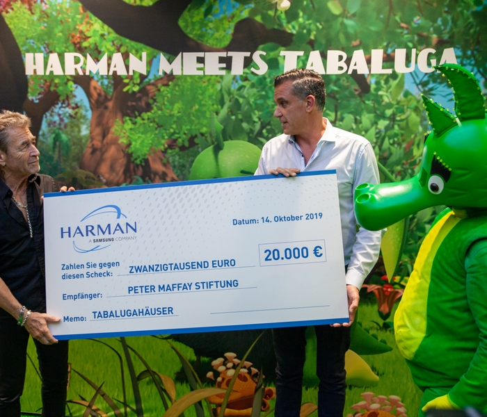 HARMAN, Peter Maffay, and Tabaluga bring smiles to little faces