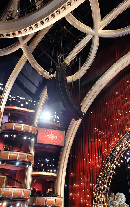 JBL Line Array at Oscars