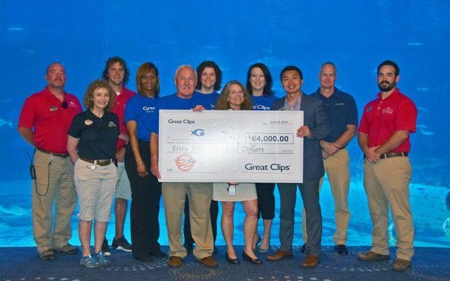 Georgia Aquarium and Great Clips Partnership Raises $64,000 For Military Veterans