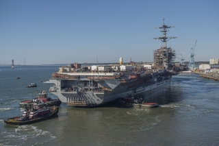 USS Abraham Lincoln (CVN 72) Undocking