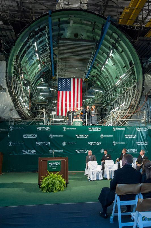 Keel Laid on Virginia-class Submarine Washington