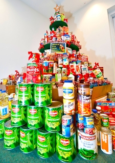 Holiday food donations