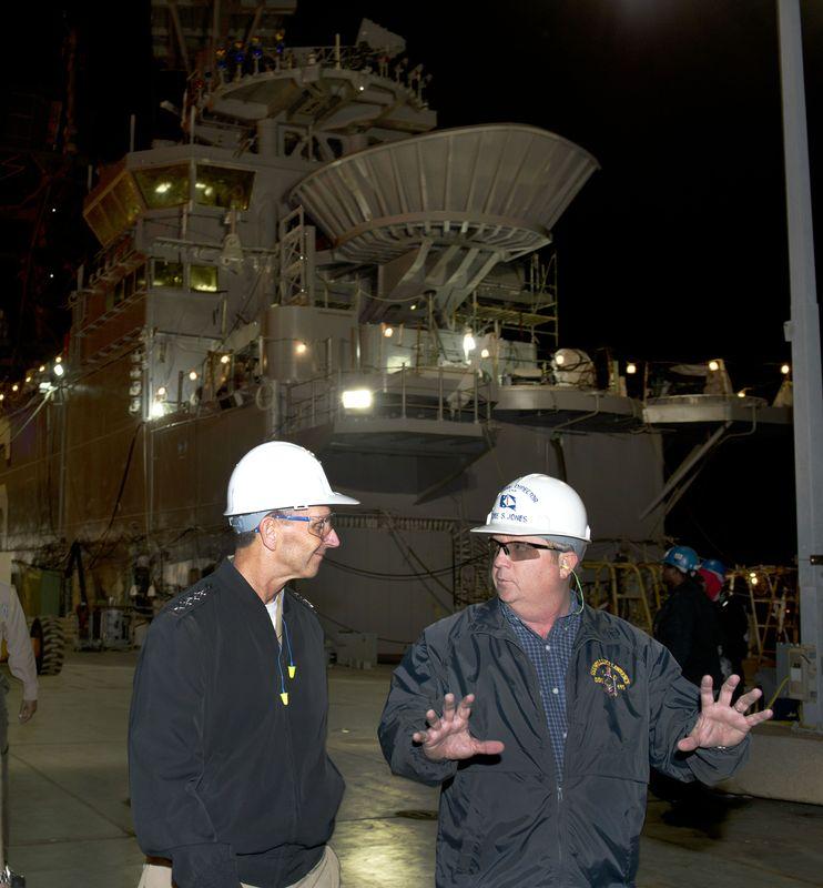 CNO Adm. Jonathan W. Greenert visits Ingalls Shipbuilding