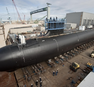 Photo Release -- Newport News Shipbuilding Launches Virginia-Class Submarine Minnesota (SSN 783)