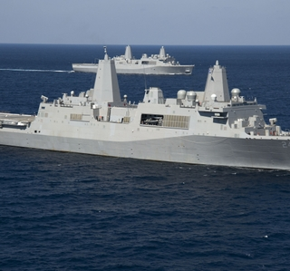 Multimedia Release -- Ingalls-Built Arlington (LPD 24) Successfully Completes Navy Acceptance Trials
