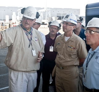 Photo Release -- Huntington Ingalls Industries Hosts Chief of Naval Operations at Newport News Shipbuilding