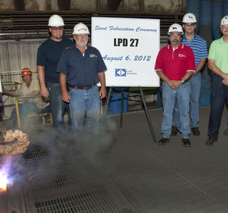Photo Release -- Ingalls Shipbuilding Starts Fabrication on LPD 27, Company's 11th Ship in the Class