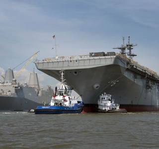 Multimedia Release -- Ingalls Shipbuilding Launches the Multi-Purpose Amphibious Assault Ship America (LHA 6)