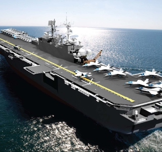 Photo Release -- Ingalls Shipbuilding Awarded $2.38 Billion Contract for Detail Design and Construction of LHA 7