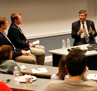 Photo Release -- HII President and CEO Mike Petters Speaks as Part of University of Virginia's Leadership Series