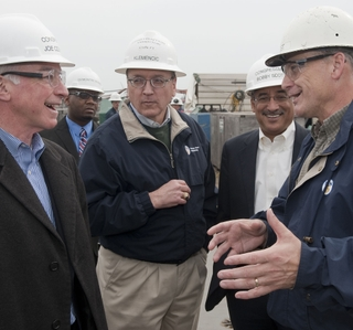 Photo Release -- U.S. Reps. Courtney and Scott Tour Newport News Shipbuilding