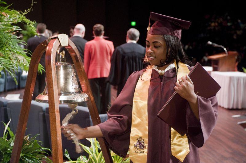 Tamesha Lashai Walker rings the bell