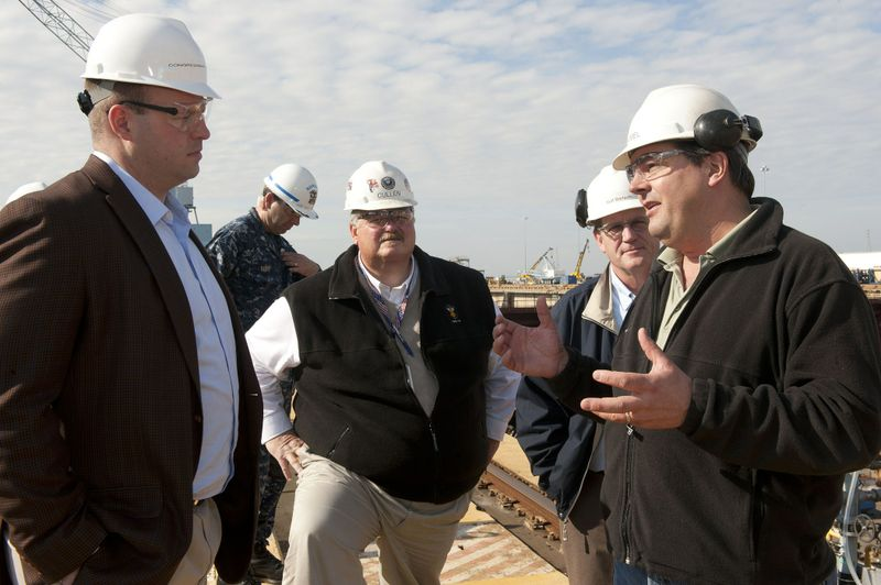 U.S. Rep. Jon Runyan at Newport News Shipbuilding