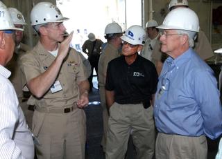 CNO Adm. Jonathan W. Greenert at Ingalls Shipbuilding