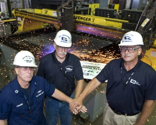 """Start of fabrication"" for National Security Cutter Hamilton (WMSL 753)"