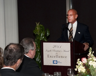 "Irwin F. Edenzon presents his ""President's Awards for Excellence"""