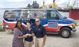 Ingalls Shipbuilding donates van to Gulf Coast USO