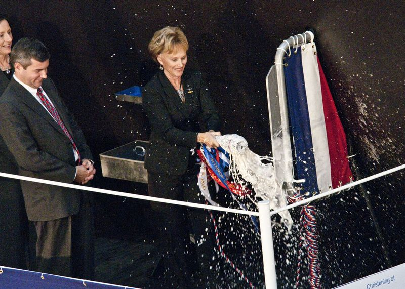 California (SSN 781) Christening