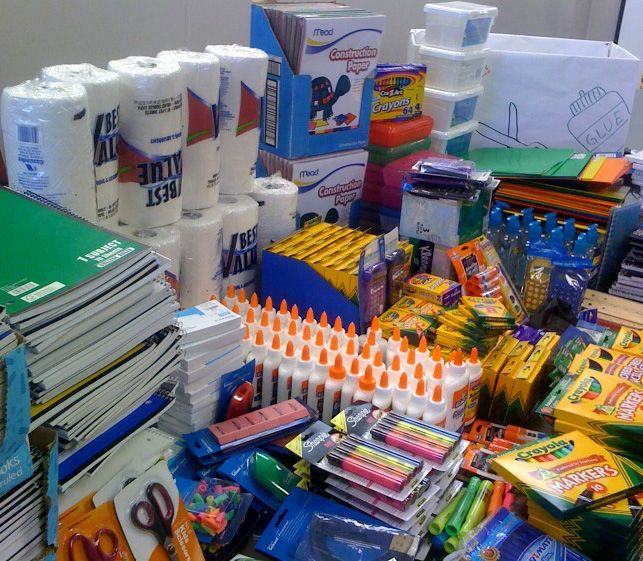 Donated School Supplies