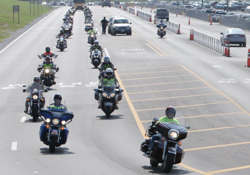 Warriors motorcycle ride