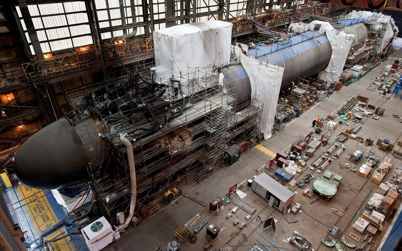 California (SSN 781) pressure hull complete