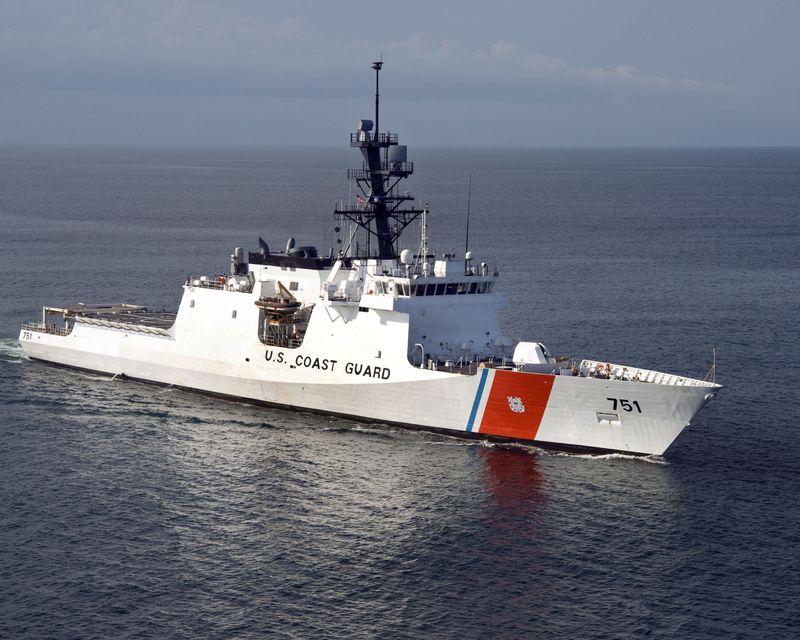 The Northrop Grumman-built U.S. Coast Guard National Security Cutter Waesche (WMSL 751)