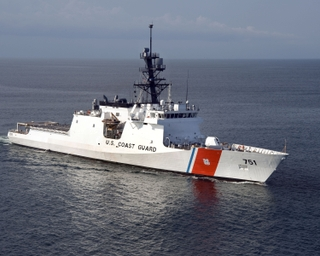 The Northrop Grumman-built U.S. Coast Guard National Security Cutter Waesche (WMSL 751)
