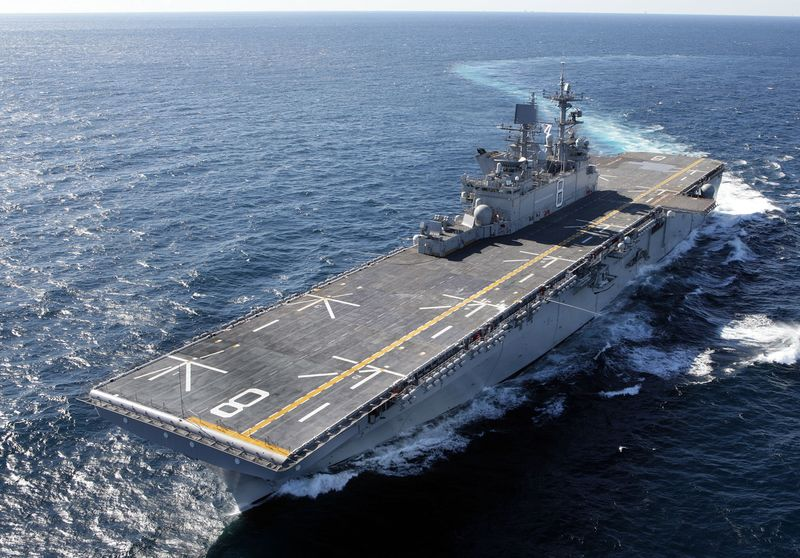 The Northrop Grumman-built multipurpose amphibious assault ship Makin Island (LHD 8)