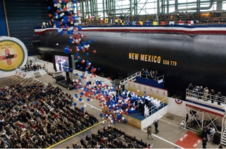 Northrop Grumman christened the sixth submarine of the Virginia class, New Mexico (SSN 779), Dec. 13, 2008.