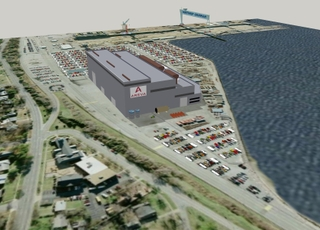 An artist's rendition of the AREVA Newport News facility