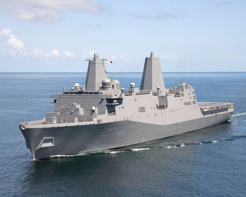 The amphibious transport dock ship USS Green Bay (LPD 20) was delivered to the U.S. Navy on Aug. 29, 2008.
