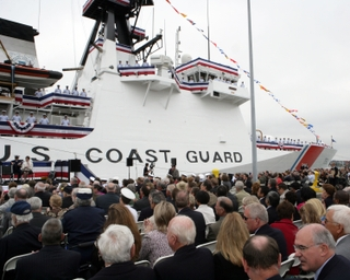 The Coast Guard's newest and most capable Deepwater cutter, USCGC Bertholf (WMSL 750), the first of the Legend Class, was commissioned into the fleet on the Coast Guard's 218th birthday.