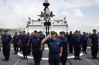 The United States Coast Guard crew of USCGC Bertholf (WMSL 750)